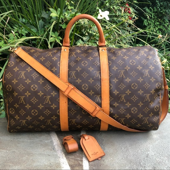 9d00df83131 💯LV Keepall Bandouliere 50 •W/STRAP & ACCESSORIES